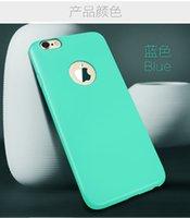 gros nouvelle arrivée cas de téléphone mobile pour l'iPhone 6 6s Silicone TPU Sucrerie Étui Caoutchouc Couleur Couverture souple