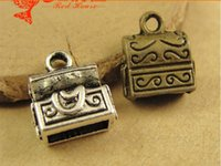 antique phone boxes - A1399 MM Antique Bronze A small box of mobile phone DIY retro jewelry pendant jewelry materials vintage case charm pendant