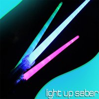 Wholesale Star Wars Weapons LED flashing light up Light saber Laser Sword Knight Skywalker Extension Type Adult Children Gifts Cosplay night Party