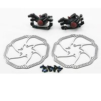 Wholesale Biicycle Aluminum Alloy Matte Black Mechanical Rear Disc Brake Kit Set for MTB Mountain Bicycle Bike