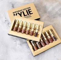 Wholesale HOT Kylie Cosmetics Matte Lipstick lip gloss Mini Kit Lip birthday limited edition gold set DHL