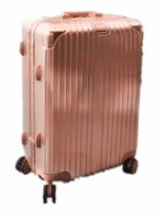 Wholesale Trolley Case Caster quot Vintage Aluminum Case Leather Case Suitcase Ladies Metal Crash Case TSA Lock