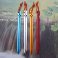Wholesale high quality CM Outdoor Bold Aluminum Alloy Tent Nail Outdoor Camping Tool with Ripe