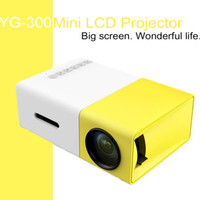 Wholesale DHL original YG LCD Projector LM Home Media Player MINI Projector For Video Games TV Home Theatre Movie Support HDMI AV