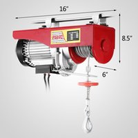 Wholesale New lbs Mini Electric Hoist Crane Overhead Garage Winch Remote Control Auto Lift