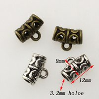 Wholesale Wholesales Tibetan Silver Gold Pewter Beads With Ring Hollow Loose Beads For Bracelet Necklace