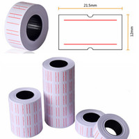 Wholesale New Rolls Useful Paper Tag Price Label Sticker Single Row Denominated paper Business Adhesive Stickers