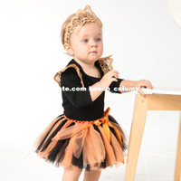 baby haircut style - DHL new baby clothing sets cotton jumpsuits romper long sleeve solid lace wings haircut girls children clothes skirt hairband rompers