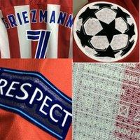 Wholesale 2016 Champions League Match Worn Player Issue Griezmann Torres Gabi Jackson Koke Shirt Jersey Custom Soccer patch