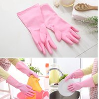 Wholesale Dishwashing PVC gloves Household Cleaning waterproof laundry housework gloves colors free size WA0794