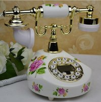 antiques telephones - ceramic antique phone fashion of Europe type style restoring ancient ways of rural elegant telephone