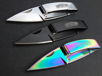aviation wallet - EXPEDITION MCUSTA L075 Wallet Folding Knife Cr13Mov HRC Tactical Camping Hunting Survival Pocket Knife Utility Clasp EDC Tools