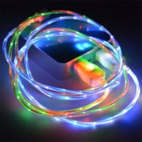 beautiful cords - New Colors Beautiful M LED Light Micro USB Cable EL Light Charger Data Sync Cord For Samsung Galaxy S3 S4 S5 LG