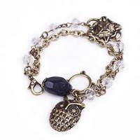 Chaîne Européenne Chaw Chaw Chaîne Beads Bracelets Vintage Gold Beaux Beaux Gemstone Double Layer Style Bijoux Pour Femme Filles Cadeaux De Noël