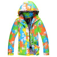 Wholesale Snowy owl ski suit lovers design thickening waterproof thermal winter outdoor skiing clothing