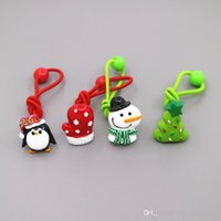 bb party supplies - New European Christmas Snow Man And Christmas Tree BB Children Barrettes Christmas Children Hair Rubber Bands Party Supplies