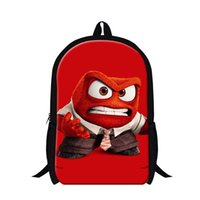 best cooler bags - Children Inside Out Cartoon School Bags For Boys And Girls Cool Angry Cartoon Backpack Outdoor Traveling Shoulder Bag Best Gift