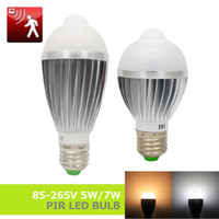 automatic light bulb sensor - E27 V V W W PIR Motion Sensor LED Bulb Lamp V SMD5730 automatic Smart Detection Infrared Body Light Motion Sensor