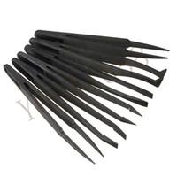 anti static tools - New Arrival Black Straight Flexibility Portable Bend Anti static Plastic Tweezer Heat Resistant Repair Tool