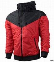 achat en gros de xs vestes femmes-Fall-NK mince windrunner Hommes Femmes sportswear de haute qualité imperméable tissu Hommes veste de sport Fashion zipper hoodie Livraison gratuite