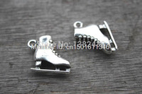 antique ice skates - Fashion Jewelry Charms Ice Skate Charms Antique Tibetan Silver D Roller skates charm pendants x17X6mm