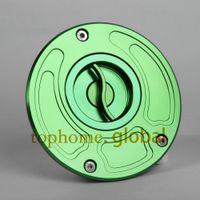 Wholesale CNC Billet Gas Cap Fuel Tank for KAWASAKI Z1000 Green Color Hot Fuel tank cap Green Color