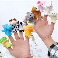 animal families video - Family Finger Toy Cartoon Animal Velet Finger Puppet Plush Baby Favor Toys Dolls Kid Child Boys Girls Educational Hand Toy