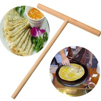 Wholesale Crepe Maker Pancake Batter Wooden Spreader Stick Home Kitchen Tool Kit DIY Use