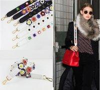 Wholesale DHL free Spring Flower rivet Strap you shoulder bag strap PU leather bag accessory Slingbag Shoulder Bag Straps Hand bag Accessories B1048