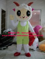 antelope shoes - Soft White Lamb Yeanling Antelope Gazelle Sheep Goat Mascot Costume Cartoon Character Mascotte Red Shoes Chifre Big Eyes ZZ839
