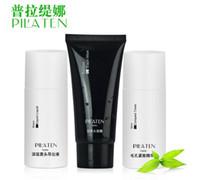ance cream - PILATEN blackhead remover ance Set black head export liquid black mask compact toner acne treatment black mud face mask set