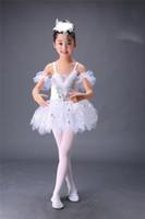 Wholesale Little swan dance costumes of the girls Children s ballet white gauze skirt fly ah fly bitter fleabane bitter fleabane skirt suit children b