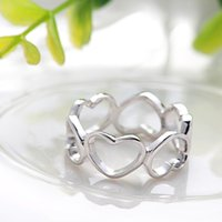 art deco ring sets - 2016 New Fashion Art Deco Jewelry Female Ring Real Silver Prong Set Clear Tiny CZ Diamond Ring For Wedding Party Best Gifts