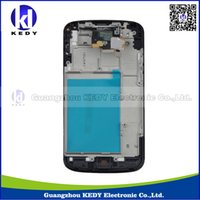 nexus 4 - 1pcs Original Tested LCD Display With Touch Screen Digitizer For LG Nexus E960 Frame Assembly Parts kedy03