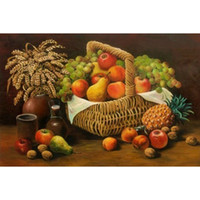 fruit gift baskets - HWG Hot Sale fruit basket Diy Diamond Painting home decor party cross stitch needlework square Diamond gift X32CM