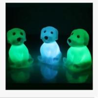 achat en gros de grenouilles jouets-Nouveauté Animal Frog Dog Turtle Sept Couleurs Changeable Led clignotant Lumières Nuit Lamp Toys pour Nouvel An / Noël / Anniversaire / Nouveauté Cadeaux