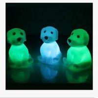 al por mayor ranas juguetes-Novedad animal rana perro tortuga siete colores cambiante Led luz intermitente luces lámpara de juguetes para el Año Nuevo / Navidad / cumpleaños / novedad regalos