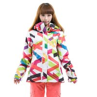 Wholesale GSOU SNOW women s ski suits Quality jacket High snowboard clothes Sports Waterproof Windproof Breathable ski jackets