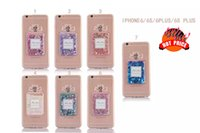 apple cosmetic case - For Iphone S Plus Liquid Quicksand Glitter Perfume Bottle Hard PC TPU Case Star Love Cosmetics Clear Transparent skin Cover