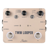 bass guitar pedal - Top Quality TWIN LOOPER Guitar Effect Pedal Mono Stereo Input Output Sound Recording with USB Cable Aluminum Alloy