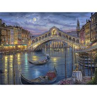 antique fishing boats - 5D Scenery Fishing boats square diamond painting embroidery mosaic rhinestones kits decoration crystal gift x30cm LD