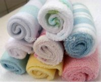 Wholesale 20 cm newborn gift baby soft slobber towel boy girl handkerchief bath washcloth good quality square face wash towel