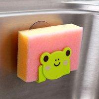 bearing mounting tools - Cute Kawaii Cartoon Bear Wall Mounted type Bath Storage Box Animal Cat Soap bar Holder Kitchen Tools Sponge Drain shelf bag