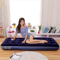 Wholesale Single Sleeping Pad Air Pads High Quality Portable Navy Blue Mattress Camping Hiking Sleeping Pads Outdoor Air Mattress Beds for Multisports
