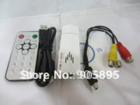 Wholesale Hot sell USB Analog TV Tuner with Remote control compatible with NTSC PAL SECAM TV standards