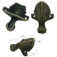 Wholesale Furniture Corner Brackets Decorative Case Box Corners For Furniture Decor Pattern Carved Bronze Tone