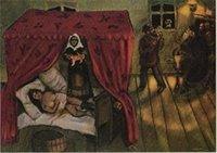 BIRTH, 1910 by MARC CHAGALL, Верхнее качество Неподдельное Handpainted картина маслом искусства портрета на подгонянном размере холстины