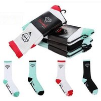 Wholesale High pure cotton high help sports men and women with breathable towel skateboarding socks bag mail