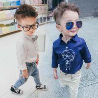 baby white tshirt - Fashion Boys Shirts Kids Tshirt Children Clothes Kids Clothing Autumn Long Sleeve T Shirts Child Shirt Boy Baby Shirts Lovekiss C27826
