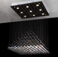 Wholesale Foyer bedroom living dinning surface mounted v v v v v Square crystal chandelier light lamp